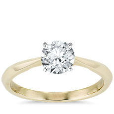 ZAC Zac Posen Knife-Edge Solitaire Engagement Ring in 14k Yellow Gold